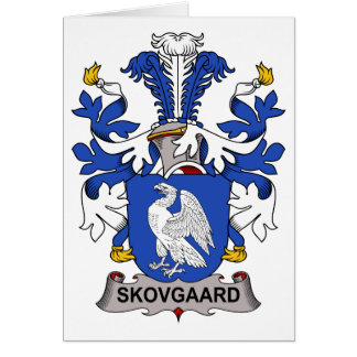 Escudo de la familia de Skovgaard Tarjetas