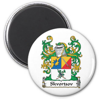 Escudo de la familia de Skvortsov Imán Redondo 5 Cm