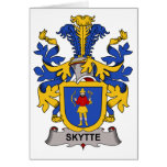 Escudo de la familia de Skytte Felicitación