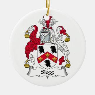 Escudo de la familia de Slegg Adorno Redondo De Cerámica