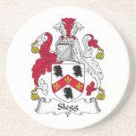 Escudo de la familia de Slegg Posavasos Para Bebidas