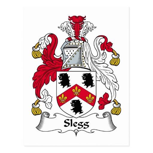 Escudo de la familia de Slegg Tarjeta Postal
