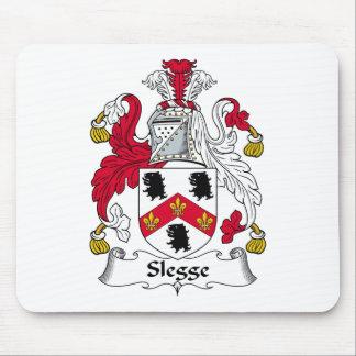 Escudo de la familia de Slegge Tapetes De Ratones