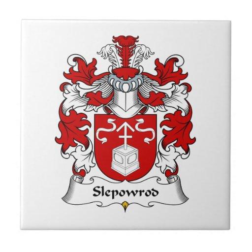 Escudo de la familia de Slepowrod Azulejo Cuadrado Pequeño