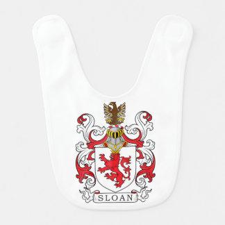 Escudo de la familia de Sloan Baberos Para Bebé