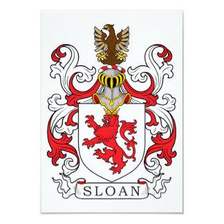 """Escudo de la familia de Sloan Invitación 3.5"""" X 5"""""""