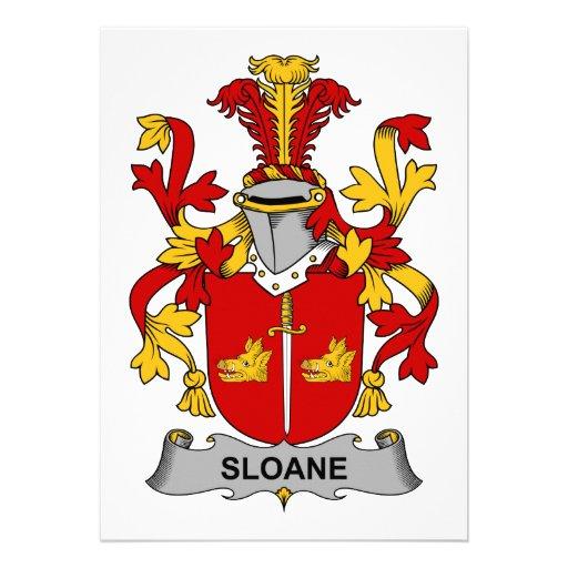 Escudo de la familia de Sloane Invitaciones Personalizada