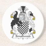 Escudo de la familia de Smallwood Posavasos Personalizados