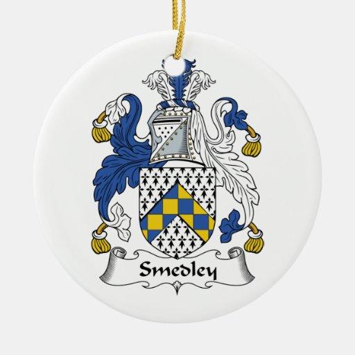 Escudo de la familia de Smedley Ornamento De Reyes Magos