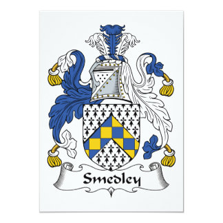 """Escudo de la familia de Smedley Invitación 5"""" X 7"""""""