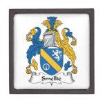 Escudo de la familia de Smellie Cajas De Recuerdo De Calidad