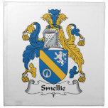 Escudo de la familia de Smellie Servilleta