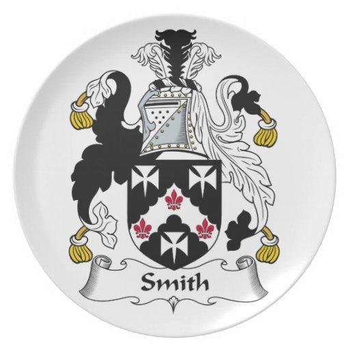 Escudo de la familia de Smith Plato De Comida