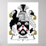 Escudo de la familia de Smith Poster