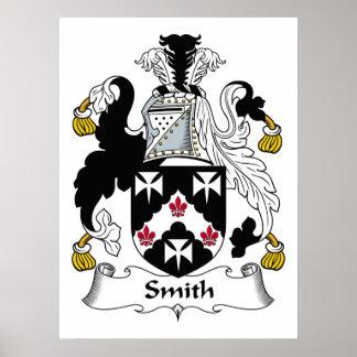 Escudo de la familia de Smith Póster