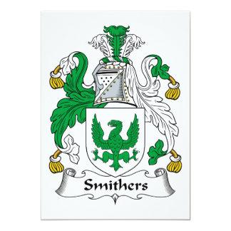 """Escudo de la familia de Smithers Invitación 5"""" X 7"""""""