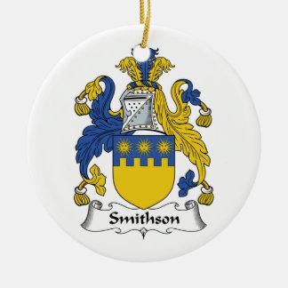 Escudo de la familia de Smithson Ornaments Para Arbol De Navidad