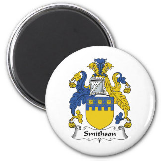 Escudo de la familia de Smithson Imán Para Frigorifico