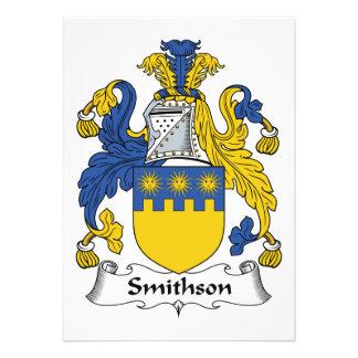 Escudo de la familia de Smithson Invitacion Personal