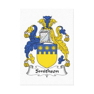Escudo de la familia de Smithson Impresión En Lona Estirada