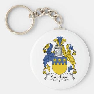 Escudo de la familia de Smithson Llaveros Personalizados