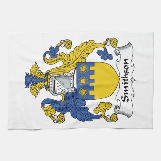 Escudo de la familia de Smithson Toalla