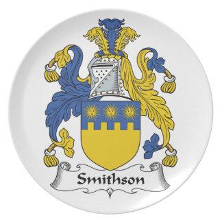 Escudo de la familia de Smithson Plato