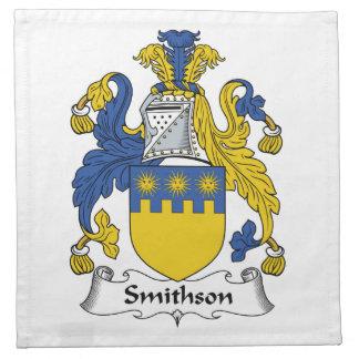 Escudo de la familia de Smithson Servilleta Imprimida