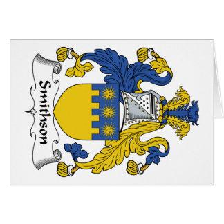 Escudo de la familia de Smithson Tarjetón