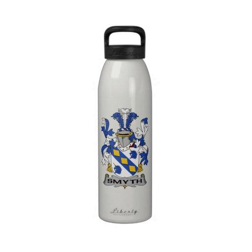 Escudo de la familia de Smyth Botellas De Beber