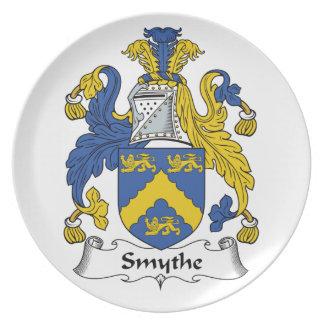 Escudo de la familia de Smythe Platos Para Fiestas