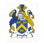 Escudo de la familia de Smythe Tarjeta Postal