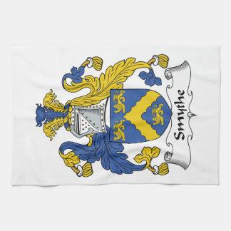 Escudo de la familia de Smythe Toalla De Mano