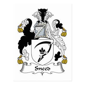 Escudo de la familia de Sneed Tarjeta Postal