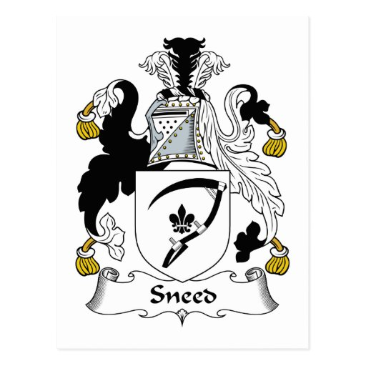 Escudo de la familia de Sneed Tarjetas Postales