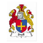 Escudo de la familia de Snell Postales