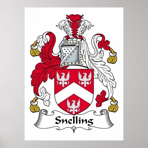 Escudo de la familia de Snelling Impresiones
