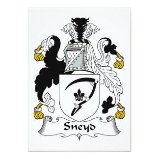 """Escudo de la familia de Sneyd Invitación 5"""" X 7"""""""