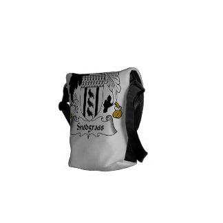 Escudo de la familia de Snodgrass Bolsa Messenger
