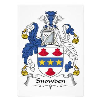 Escudo de la familia de Snowden Anuncios Personalizados