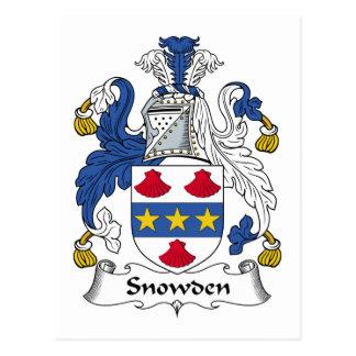 Escudo de la familia de Snowden Tarjetas Postales