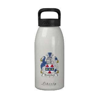 Escudo de la familia de Snowdon Botella De Agua Reutilizable