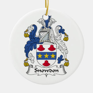 Escudo de la familia de Snowdon Ornamento Para Arbol De Navidad