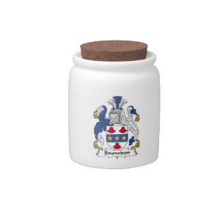 Escudo de la familia de Snowdon Jarra Para Caramelo