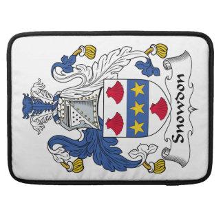 Escudo de la familia de Snowdon Fundas Para Macbooks