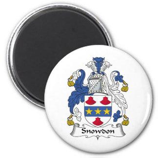 Escudo de la familia de Snowdon Imán Para Frigorífico