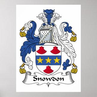 Escudo de la familia de Snowdon Impresiones