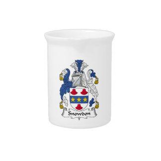 Escudo de la familia de Snowdon Jarra Para Bebida