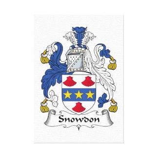 Escudo de la familia de Snowdon Lona Envuelta Para Galerias