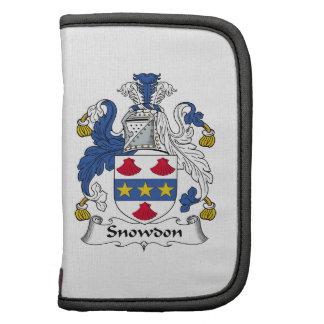 Escudo de la familia de Snowdon Planificador